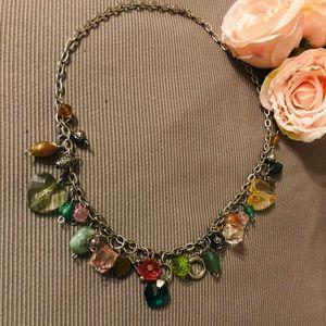 Vintage Multi colour Crystal Necklace